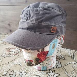 Quicksilver brown newsboy cap ripstop